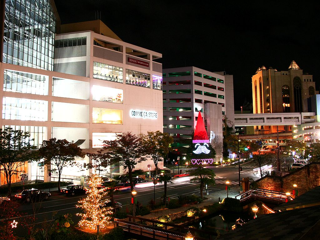ダイヤパーキングのサンタクロース・ハーバーランド/神戸市のクリスマス/壁紙写真無料写真素材