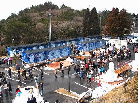2005年第1回六甲山氷の祭典 会場の風景・六甲山ガーデンテラス