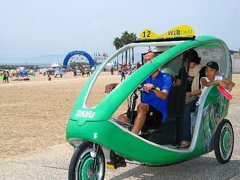 ベロタクシー・自転車タクシー 神戸 須磨海水浴場
