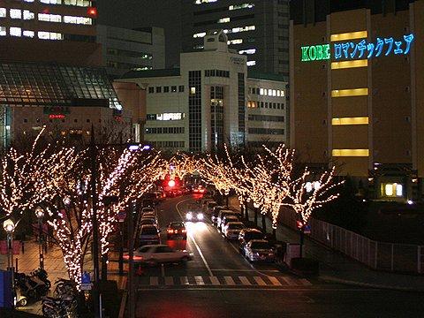 神戸ロマンチックフェア・神戸ガス灯通りのイルミネーション