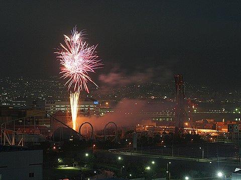 神戸ポートピアランドバレンタイン花火ファンタジー