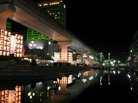 夏宵六甲アイランド提灯祭・六甲アイランドフェスティバル 神戸六甲アイランドの夜景