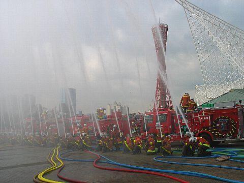 兵庫県神戸市防災訓練