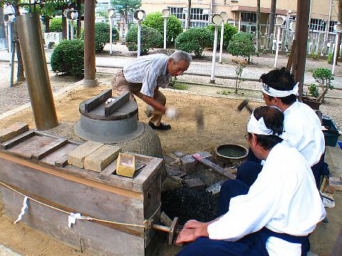 金物古式鍛錬公開・村の鍛冶屋!? 三木金物神社