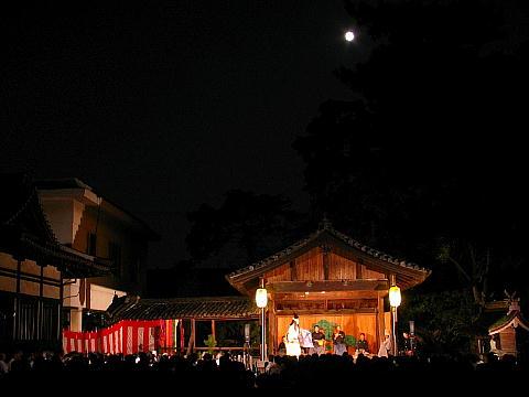 高砂観月能・高砂神社の観月会