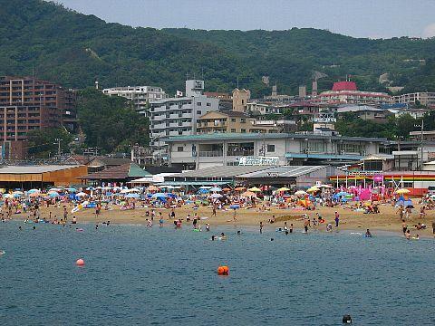 須磨海水浴場・須磨海岸と海の家