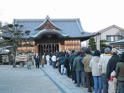 明石市/柿ノ本神社・人丸神社の初詣・お正月の風景