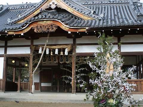 姫路市/松原八幡神社の初詣・お正月の風景