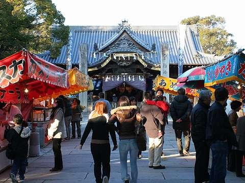 姫路市/魚吹八幡神社の初詣・お正月の風景