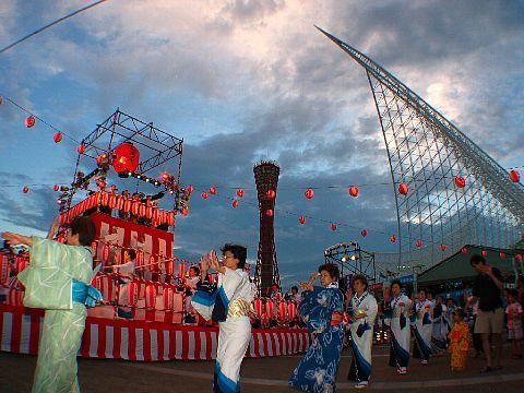 神戸海の盆踊り2005・神戸国際盆踊りコンテスト 神戸港メリケンパーク