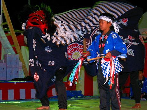 小野市西脇町の郷土芸能・若一神社秋祭りの獅子舞・播州の秋まつり