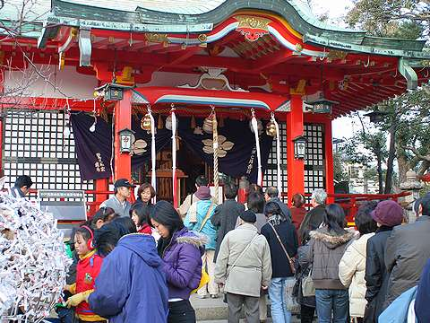 神戸の初詣・2006年(平成18年・戌年)・綱敷天満宮