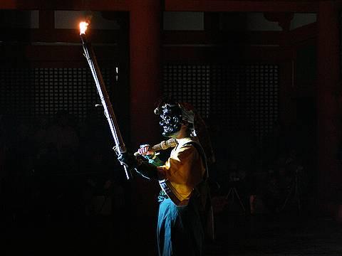 大山寺の追儺式(鬼追い)・神戸 国宝 大山寺
