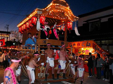 だんじりの巡行 魚吹八幡神社秋祭り・播州の秋祭り