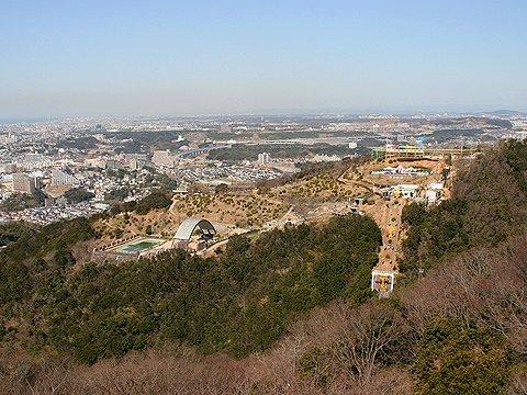 須磨山上遊園と神戸市西部~播磨平野の風景