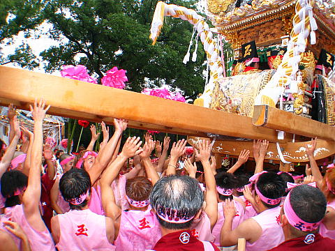 恵美酒宮天満神社秋祭り・屋台の台場練り