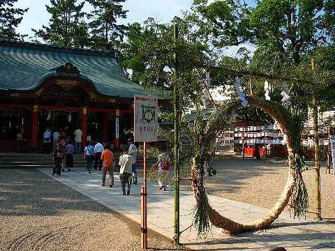 神戸 長田神社 夏祭り 夏越え祭り 茅の輪くぐり