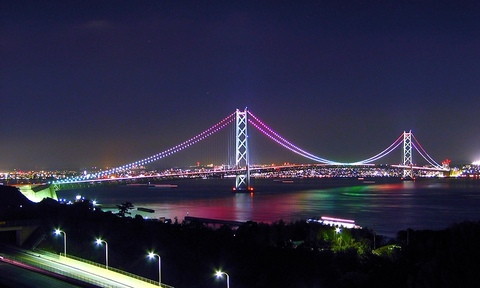 Softbank_912sh_aquos_明石海峡大橋夜景・WVGA(800×480)壁紙・携帯待ち受け画像