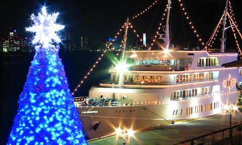 クリスマス夜景壁紙