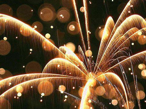 光のファンタジー/花火の写真