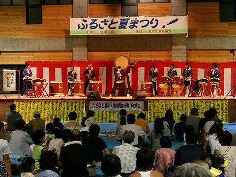和太鼓「上月太鼓」の演奏/上月ふるさと夏祭り花火大会