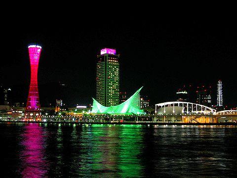 神戸ピンクリボンフェスティバル2006/神戸メリケンパークの夜景
