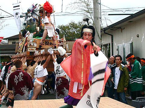 仁輪加太鼓と舞子の踊り/高砂市・小松原三社大神社秋祭り