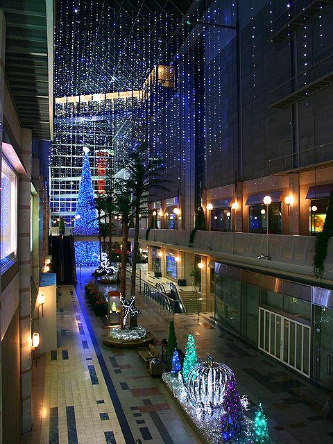 キャナルガーデンのクリスマスツリーとクリスマスイルミネーション/神戸ハーバーランド