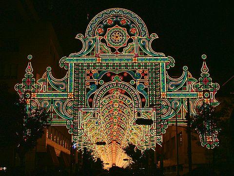 三井住友銀行のフロントーネ~ガレリア・2006ルミナリエ/神戸市旧居留地