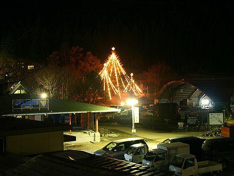 グリーンエコー笠形のクリスマスツリー/神河町