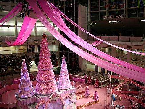 神戸ファッションプラザRink SANTA VILLAGEのクリスマスツリー/神戸市六甲アイランド