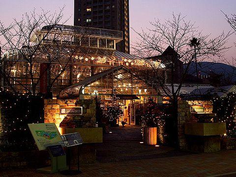 宝塚ガーデンフィールズのイルミネーション・宝塚水と光の彩り2006/宝塚市の夜景