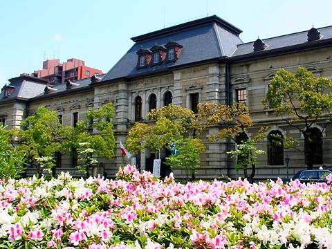 兵庫県公館と躑躅(ツツジ)の花/神戸市中央区