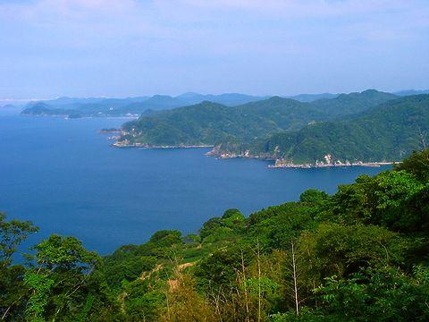 香住海岸と日本海の風景/香美町香住区 余部御崎(余部埼)