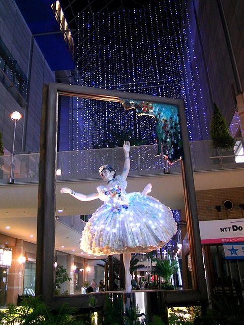 ドガ 「舞台の踊り子」印象派絵画のガーデンミュージアム/神戸市・ハーバーランドキャナルガーデン
