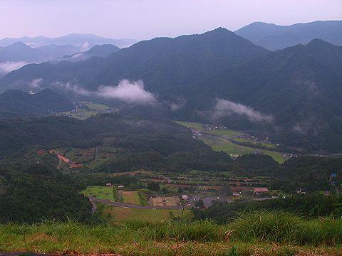 さのう高原パラグライダー フライト場からの風景