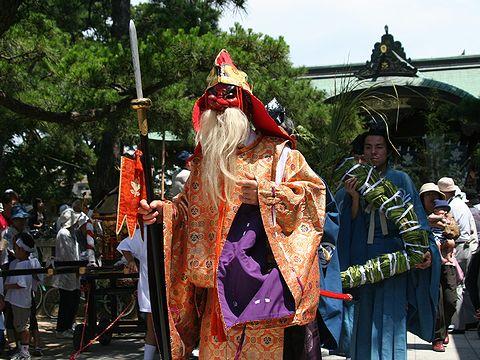 猿田彦大神の天狗とオシャタカ舟の行列