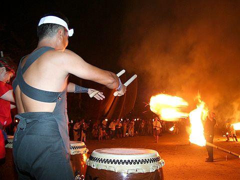 出石太鼓・金剛寺太鼓/出石 愛宕神社の火祭り(愛宕の火振り)