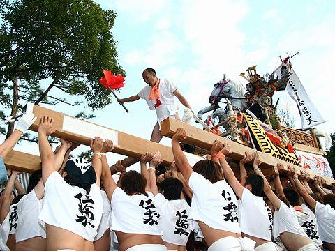 仁輪加太鼓の屋台/高砂市・小松原三社大神社秋祭り