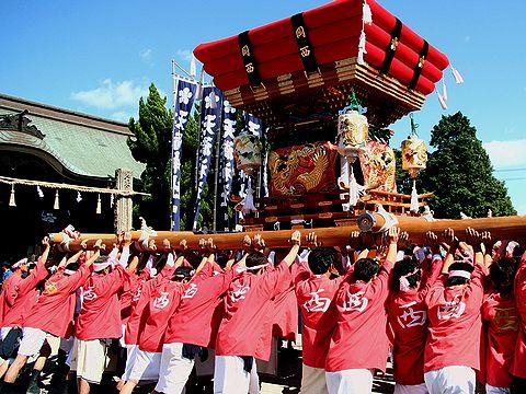 布団屋台の練り回し/稲美町・天満神社秋祭り