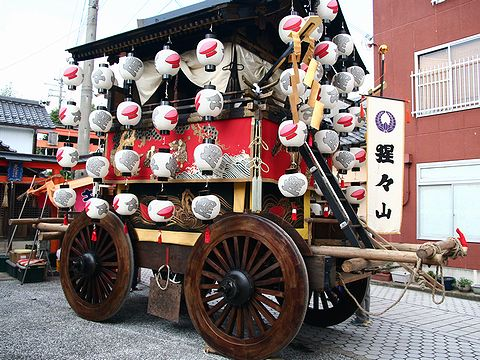 京都の祇園祭の影響をうける春日神社の山鉾/篠山市 春日神社秋祭り