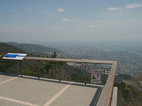 摩耶山掬星台の展望台の風景/神戸市六甲山