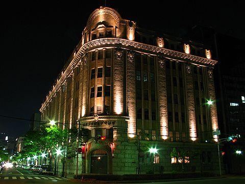 居留地5番館 商船三井ビルのライトアップ・神戸旧居留地の夜景/神戸市