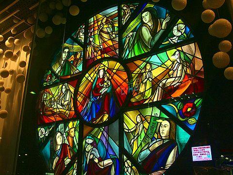 光の創作「ステンドグラスの世界・マリアのローザス」・HIMEJI Wintopia 2006/姫路市