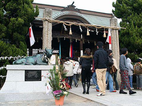 初詣・天満神社/稲美町/お正月の風景・門松の写真