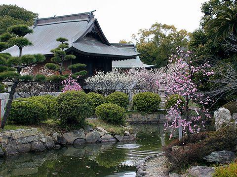 曽根天満宮の日本庭園と梅園/高砂市