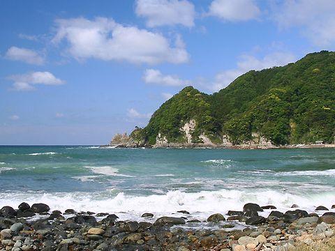 香住海岸と日本海の風景/香美町香住区 余部漁港