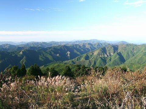 千ヶ峰から見た北の風景