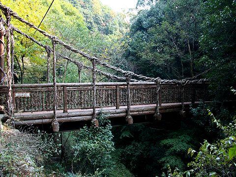生田川にかかる猿のかずら橋/神戸市