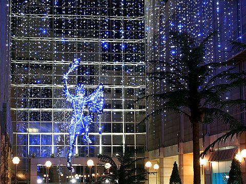 キャナルガーデンのクリスマスイルミネーション・オリオン座/神戸ハーバーランド